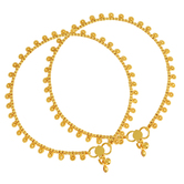 Craftsvilla Gold Plated Filigree Traditional Ethnic Anklet Jewellery