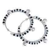 Craftsvilla Silver Plated Classic Black And White Beads Traditional Nazariya For New Borns (0-1yrs)
