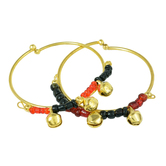 Craftsvilla Gold Plated Charms Beaded Ghungroo Adorned, Expandable Free Size Nazariya For New Borns (0-3yrs)