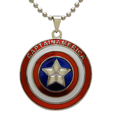 Craftsvilla Steel Red, White And Blue, Captain America Round Chian Pendant Necklace Jewellery For Men And Women