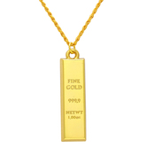 Craftsvilla 24 Kt 1 Micron Gold Plated Swiss Gold Bar Shape Rich Looking Chain Pendant Necklace