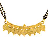 Craftsvilla Gold Plated 9 Coin Laxmi Coin Ethnic Traditional Mangalsutra Necklace Jewellery