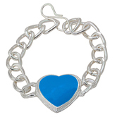 Craftsvilla Salman Inspired Silver Plated Heartshape Bracelet For Men And Women