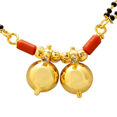 Craftsvilla Gold Plated Cz Studded Double Wati Ethnic Traditional Mangalsutra Jewellery Necklace