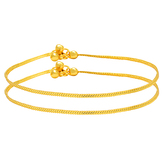 Craftsvilla 24kt Gold Plated Single Strand Simple And Sober Ghungroo Anklet
