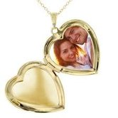 Craftsvilla Gold Plated Forever In My Heart, Big Size Openable, Heartshape Photo Momento Locket Pendant For Men And Women