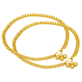 Craftsvilla Gold Plated Handmade Smooth, Flexible Stylish Gold Look Anklet