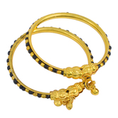 Craftsvilla Gold Plated Classic Black And White Beads Traditional Nazariya For New Borns (0-1yrs)