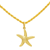 Craftsvilla Gold Plated Star Fish Chain Pendant Locket Necklace, God Pendant, Temple Jewellery, For Men And Women