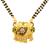 Craftsvilla Gold Plated Cz And Meenakari Mangalsutra Necklace Jewellery