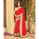 Triveni Red Border W...