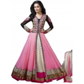 Pink Georgette Anarkali Suit