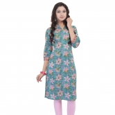 Beautiful -blue-cotton-kurti-from The House Of Abhiprai