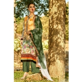 Yellow And Off-white Printed Salwar Kameez With Chikan Work Bottom
