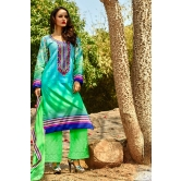 Shaded Cotton Salwar Kameez With Green Chikan Work Bottom And Dupatta