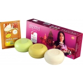 Anuved Gift Pack- Exclusive Pack Of 3 Quality Bhakti Soaps (125gm Each) Enriched With