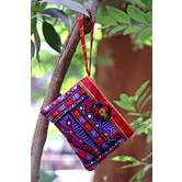 Multicolor Hand Embroidered Banjara Zip Pouches Pattern 2