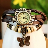 Imported Brown Casual Analog Leather Women Wrist Watch (original)