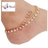 Rituals Gold Plated Cz Diamonds  Anklets