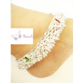 German Silver Bridal Anklets  - Guarantee Of Polish