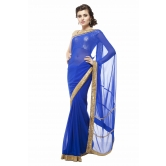 Blue Georgette Embel...