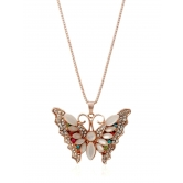 Embellished Butterfly Pendant