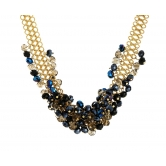 Crystal Wrap Golden Necklace