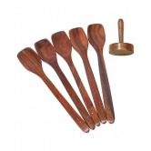 Wooden Ladel Set Of 5 + 1 Masher