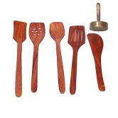 Wooden Sheesham Ladel Set Of 5 + 1 Masher