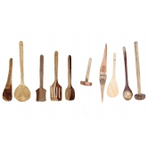 Wooden Ladle Set Of 10 Piece