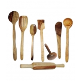 Wooden Kitchen Tools (pack Of 8)