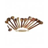 Wooden Kitchen Tools Set Of 14