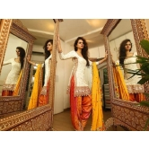 1615_designdesk New Arrival Summer Cool Off-white Patiyala Salwar Suit