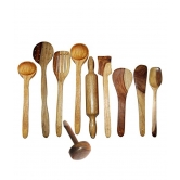 Wooden Ladel Set (8 Ladles+ 1 Mesher+ 1 Rolling Pin)