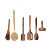 Wooden Skimmers Set Of 5 + 1 Masher