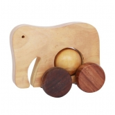 Desi Karigar Wooden Beautiful Toy Elephant With Wheel