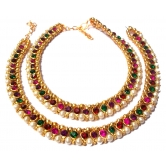 Multi Color Anklet Mahendi Plated