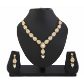 413 White Kundan Indian Ethnic Necklace Earrings Set Bollywood For Women