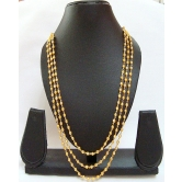 226 Diva Gold Polished Three Line Mala For Women
