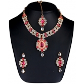 Craftsvilla Multicolour Alloy Bridal Necklace Set