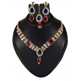 Kundan Nice Looking American Diamond Necklace Set By Entercarts
