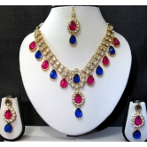 Stylish Gold & Gold Plated Light Necklace Set