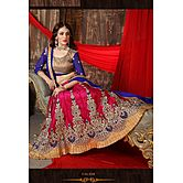 Fashions World(tm)new Collection Blue And Pink Lengha Choli