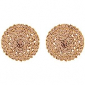 Designer Golden Stone Big Party Wear Stud
