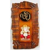Stapled Wood Finish Om Ganesha Door / Wall Hanging