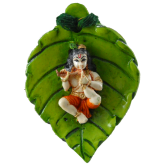 Small Handpainted Leaf Krishna Door / Wall Hanging