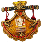 Big Design Fan Ganesh Wall Hanging