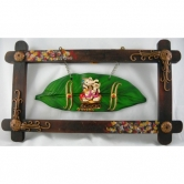 Leaf Ganesh With Wooden Frame