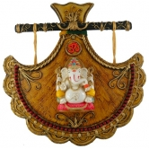Big Fan With Big Popular Ganesha Wall Hanging