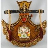 Medium Fan Popular Ganesha Door / Wall Hanging